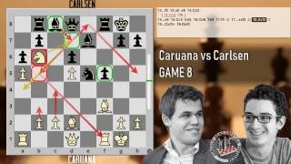 Caruana vs Carlsen - Live Stream Parte 1 - Opening Live - Game 8