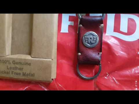 Royal Enfield Antique Keychain Red