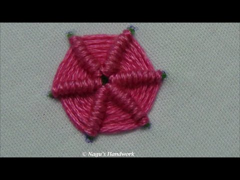 Ribbed Spider Web Stitch Hand Embroidery Tutorials By Nagus