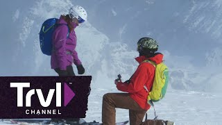 A Surprise Proposal on a Heli-Skiing Trip - Travel Channel