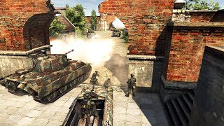 WWII Castle Fortress Battle - Western Front Carnage | Men of War: Assault Squad 2 Gameplay