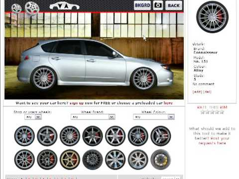 see hundreds of different wheels on your own actual car now youtube. Black Bedroom Furniture Sets. Home Design Ideas
