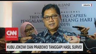 Kubu Jokowi & Prabowo Tanggapi Hasil Survei
