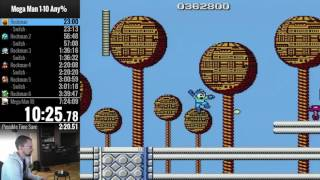 Mega Man 1-10 | Single-segment SPEEDRUN | 7:00:39
