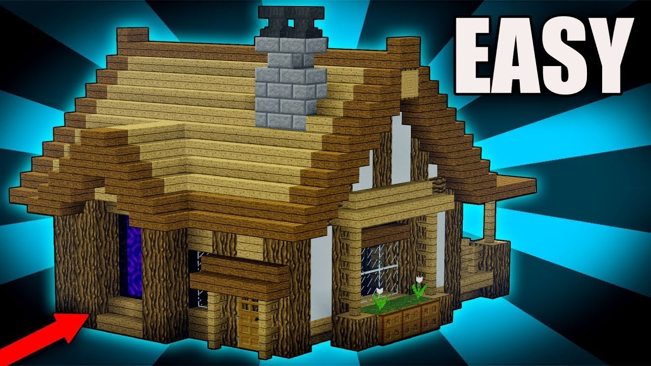 How To Build A Easy Modern House In Minecraft