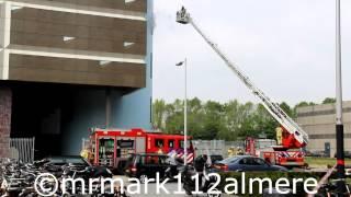 Brandweer Amsterdam en Amstelveen PRIO 1, Brand in KPN zendmast Amsterdam