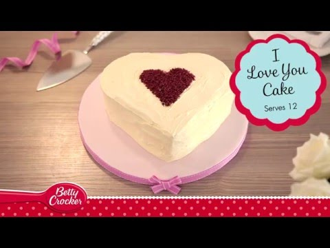 I Love You Heart Shaped Cake Recipe - Betty Crocker™