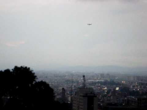Flying to land in Bogota
