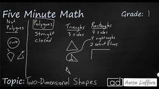 1st Grade Math Two-Dimensional Shapes