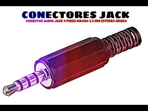 Video de Conector audio jack 4 pines macho 3.5 mm estereo  Negro