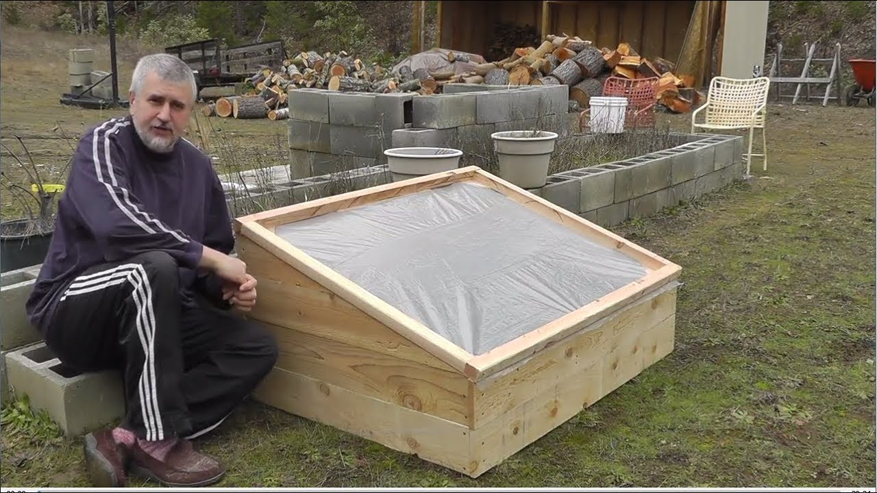 how to build a cold frame for growing winter vegetables youtube