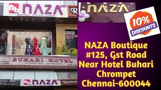 NAZA Boutique At Chrompet   New Branch Opening   Flat 10% Discount