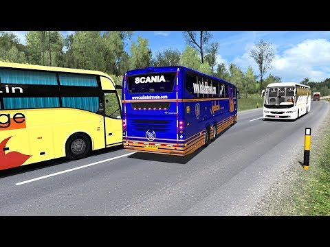 Bus Driver Takes His Chance And Overtakes Dangerously | Bus Driving In ETS2 Mod