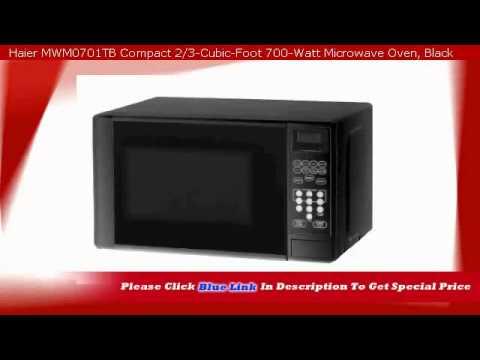 Haier Mwm0701tb Compact 2 3 Cubic Foot 700 Watt Microwave Oven Black