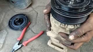 ford ecosport titanium ac compressor clutch coil replace