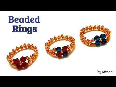 beaded-rings.-jewelry-making.-beading-tutorial