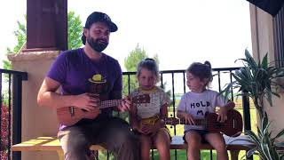 Adorable 3 and 6 year old Ukulele Cover with Uncle