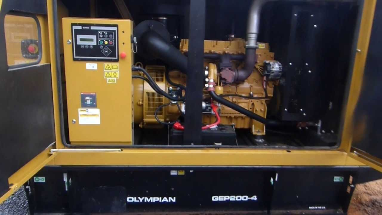groupe lectrog ne 200 kva caterpillar olympian gep200 4 rh youtube com Emergency Diesel Generator Olympian Generator Specifications