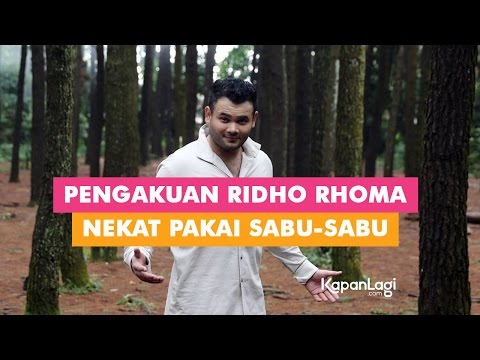 Pengakuan Ridho Rhoma Nekat Pakai Sabu-Sabu