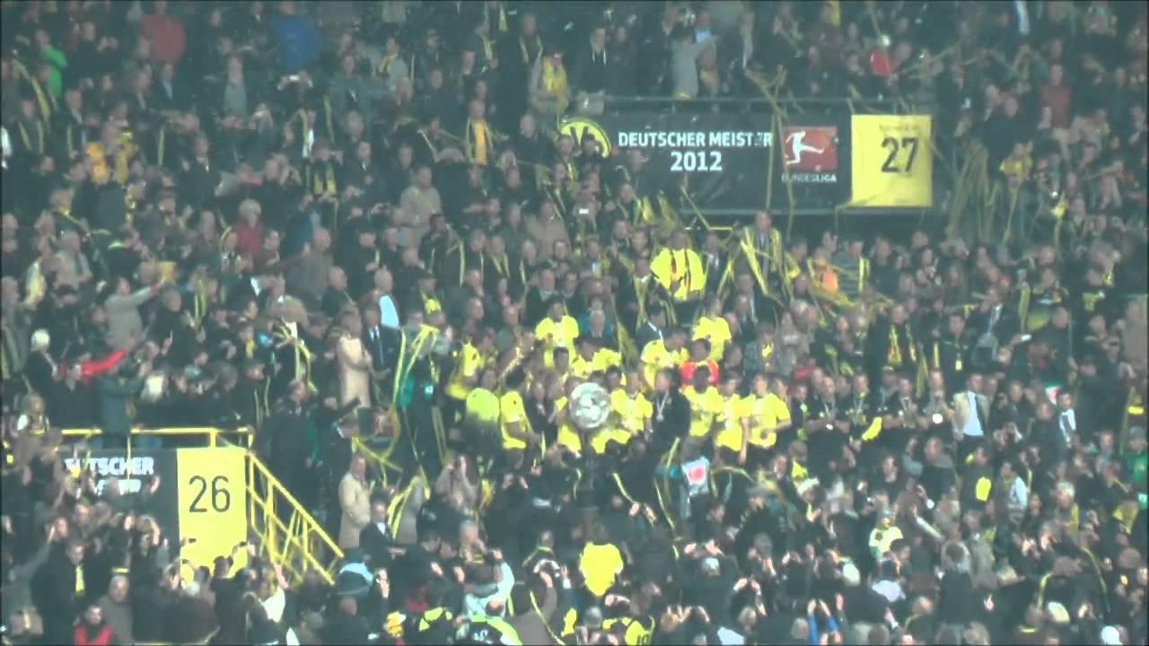 Borussia Dortmund - Freiburg 4-0 Meisterfeier BVB Deutscher Meister 2012!