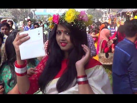 Bangladeshi Culture- 1st Day Of Bengali Month Falgun At Shahbagh, Dhaka