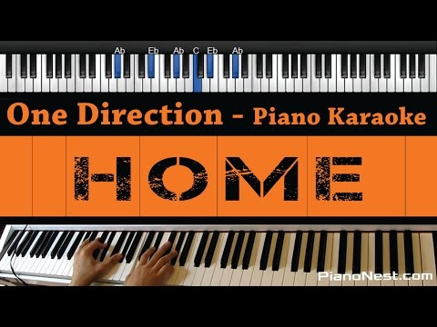 One Direction - Home - Piano Karaoke / Sing Along / Cover with Lyrics