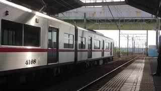 [ピカピカ編成‼️]名鉄瀬戸線4000系4018f、清水駅  発車‼️