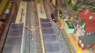Spur N Modellbahn, heute Vollmer Strecken Masten modifizieren und zu Zwillings-Masten umbauen