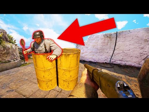 HE CAN HIDE IN THERE?! (Call Of Duty: WW2)