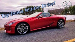 2021 Lexus LC500 Convertible Winter Drive