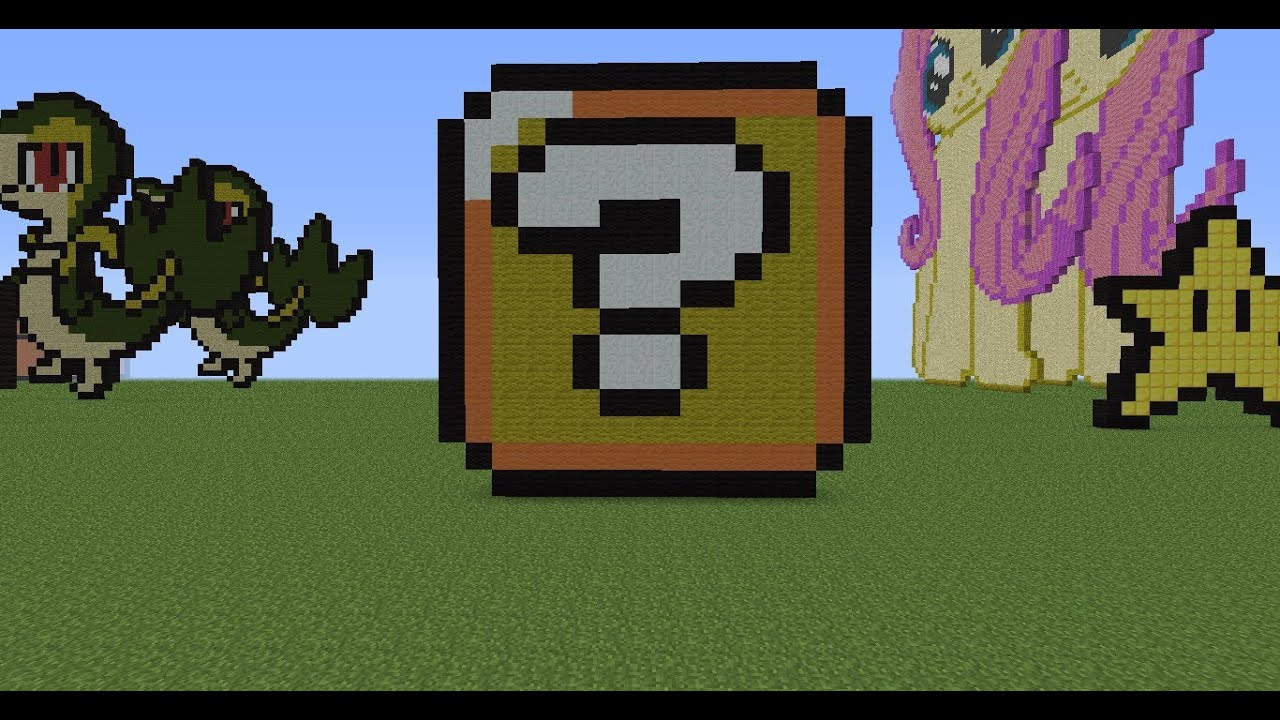minecraft pixel art tutorial 22 block  YouTube