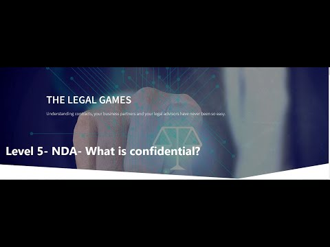Level 5 -  What is Confidential Information- The Legal Games- www.thelegalgames.de