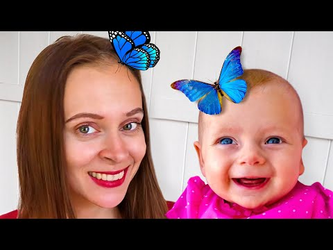 Maya and Mary Play with Cartoon Insects