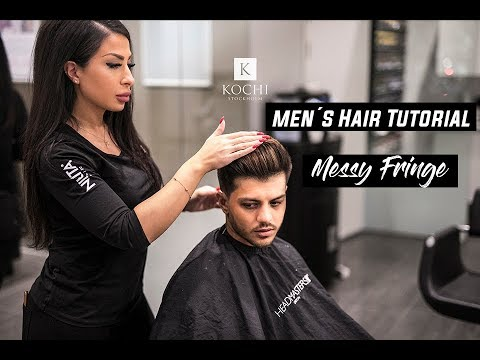 Soft fade x Messy Fringe Tutorial   Men's Hairstyles #NEW 2018