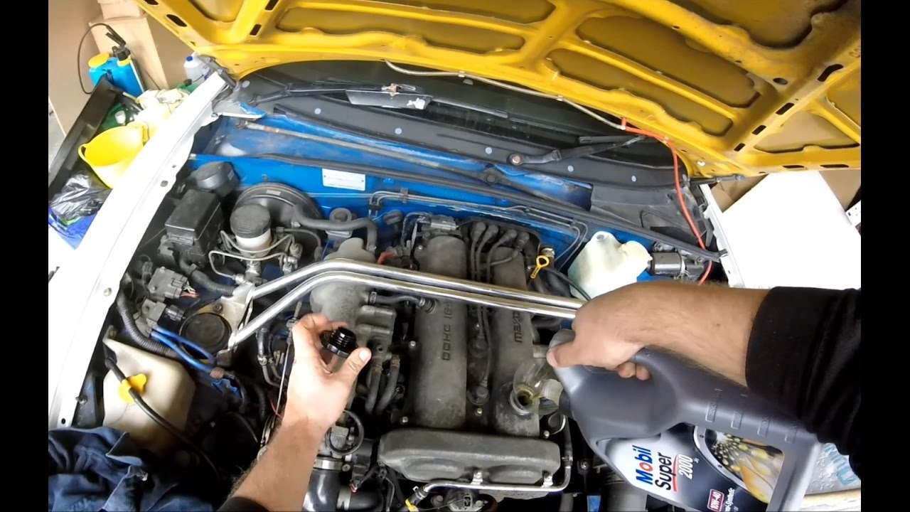 1991 mazda eunos mx5 miata 16 engine oil and filter change youtube publicscrutiny Gallery