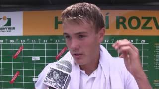 Vitalij Sačko po výhře ve finále kvalifikace na turnaji Futures v Ústí n. O.