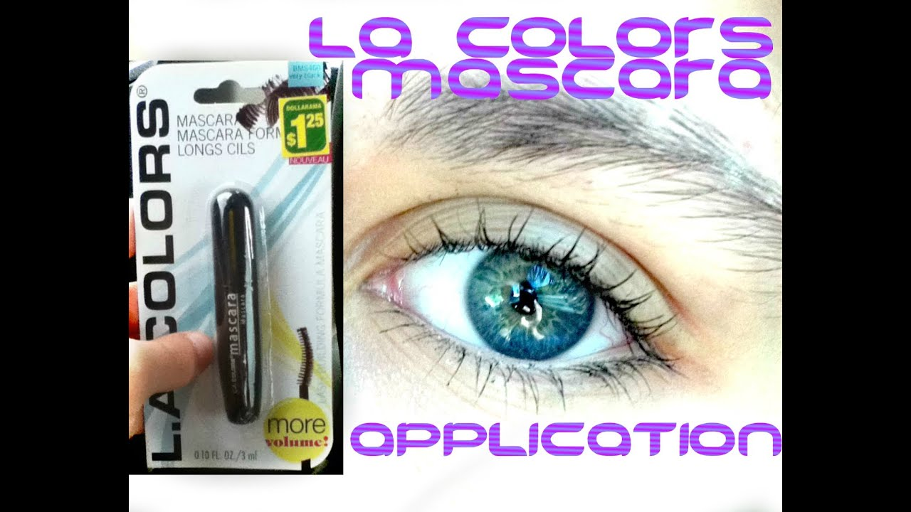 LA Colors Mascara (mini size) | mascara demo - YouTube