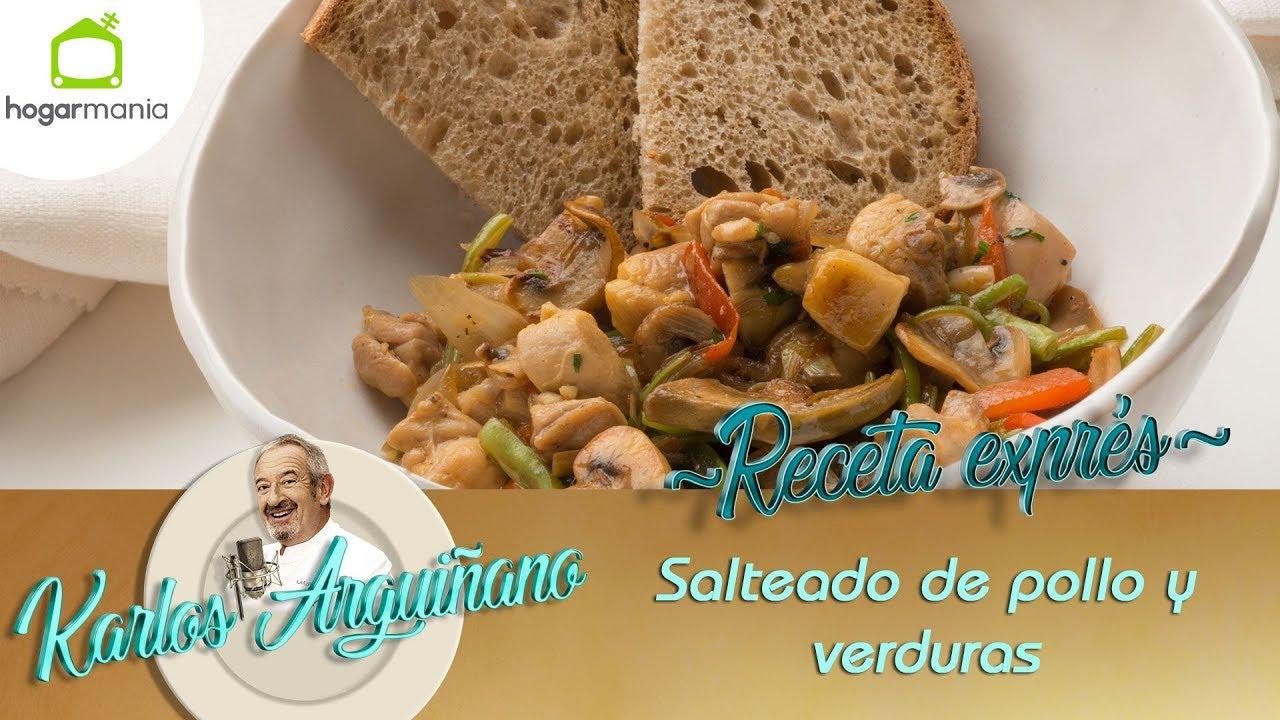 Receta de Salteado de pollo y verduras por Karlos Arguiñano - YouTube