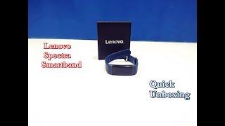 Unboxing of Lenovo HX03F Spectra Smartband (Blue Strap, Size : Regular)