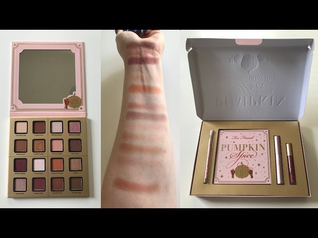 Too Faced Pumpkin Spice & Everything Nice Collection | Swatches & Makeup Look