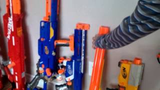 Owen and Anthony Nerf Gun Collection