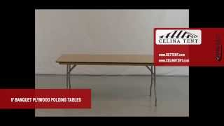 "6' X 30"" Banquet / Rectangle Plywood Folding Tables"