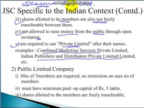 PRIVATE AND PUBLIC LIMITED COMPANY