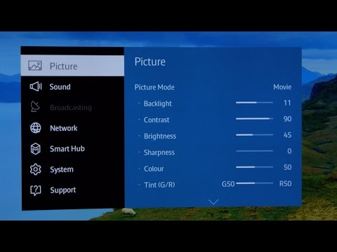 Samsung picture options best settings