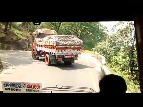 KSRTC Multi Axle Volvo(Garuda) taking a hairpin curve of Thaamarassey ghat