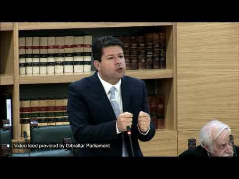 Gibraltar Parliament exchanges between Speaker and Chief Minister