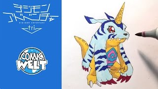 How to draw Gabumon ガブモン [Digimon Tri] Drawing Tutorial