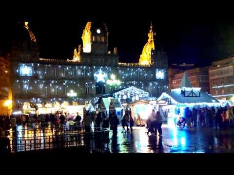 Navidades en La Coruña.  Plaza de Maria Pita espléndida