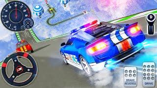 Polis Arabası Mega Rampa Yarışı - İmkansız Dublörler Araba Sürüş Simülatörü - Android GamePlay