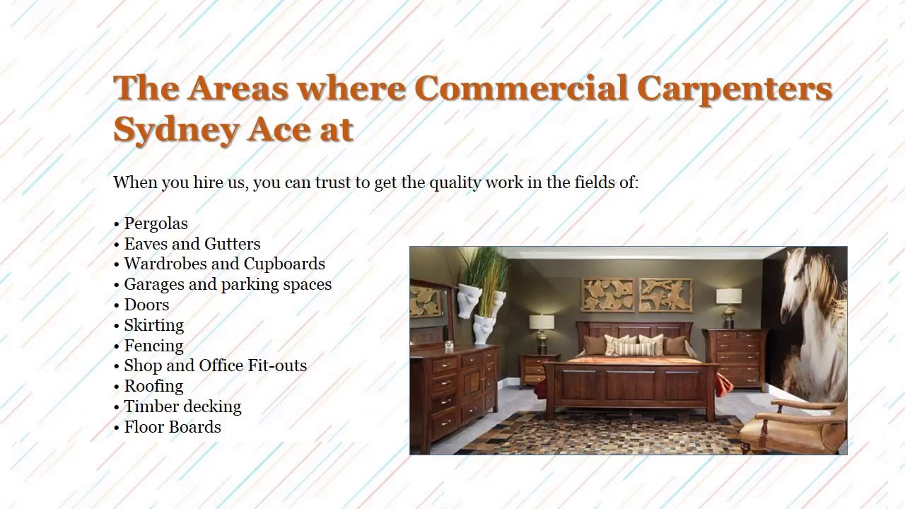The Furniture is a Necessity for Your House - Commercial Carpenters Sydney